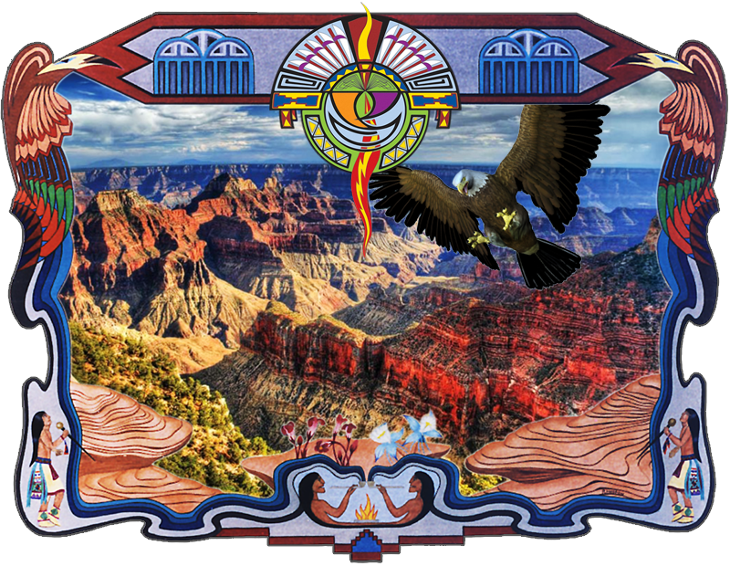 Canyon Scene with Eagle