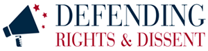 logo defending rights and dissent